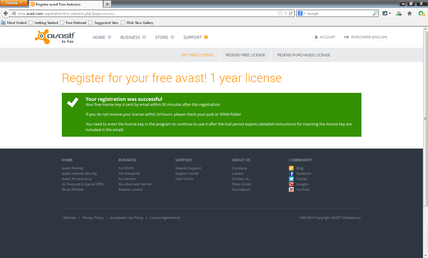 How get free license 1 year avast! | Free Download Everything